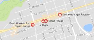 Digital Diagnosis Cigar Shop Success: Map